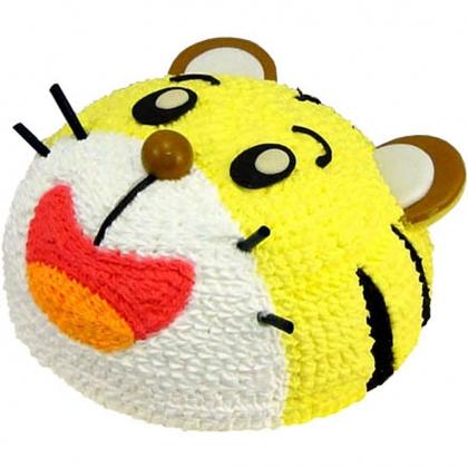 蛋糕/快乐小虎-可爱老虎形状奶油蛋糕 .适用于:生日