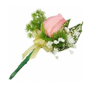 商业用花/胸花1:粉玫瑰 高级配草 花 语: