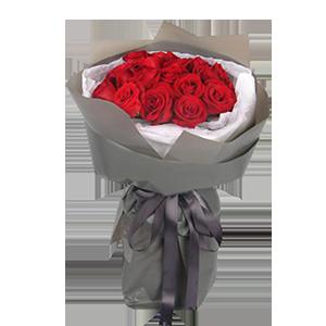 鲜花/王妃:19枝昆明A级红玫瑰 花 语:美的热烈爱的浓烈,愿