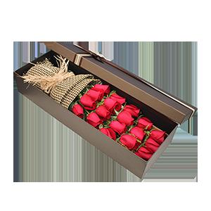 鲜花/守护爱情:19枝玫瑰 花 语:爱你一生一世