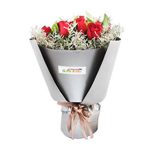 鲜花/迟到的情书:19枝红玫瑰 花 语:奋不顾身的爱情