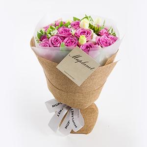 鲜花/一品夫人:19枝精品紫玫瑰(全国市区均免费配送,配送至县、乡、
