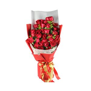 鲜花/一生爱人:33枝红玫瑰 包 装:高档大红色包装纸、白色雾面纸