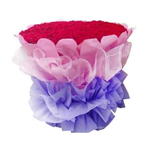 鲜花/爱你365天:365枝红玫瑰 包 装:粉色皱纹纸圆形精美包装,粉