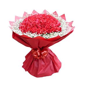 鲜花/缘定三生/66枝红玫瑰:66枝红玫瑰 包 装:红色皱纹纸圆形精美包装,同色