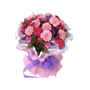 鲜花/母爱深深:20支粉色康乃馨 包 装:白色、粉色卷边纸精美包装