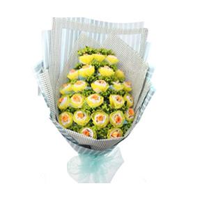 鲜花/温暖的祝福:21枝深香槟色玫瑰,双层独立包装。(购买前请提前咨询