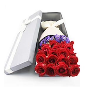 鲜花/爱的旅程:21枝红玫瑰 花 语:见山是山,遇水是水,唯独遇见