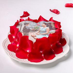 蛋糕/以爱之名: 玫瑰花瓣、新鲜奶油、时令水果,数码蛋糕  [