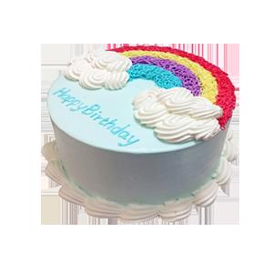 蛋糕/幸福不灭:创意彩虹胚 祝 愿:有你的每一天,都是幸福的时光