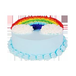 蛋糕/彩色的梦:彩色奶油装饰,鲜奶蛋糕 祝 愿:最是一年春好处