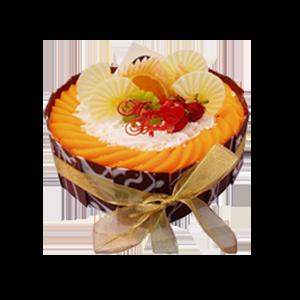 蛋糕/向日葵:水果围圈搭配多彩巧克力片 祝 愿:笑容像太阳一样灿
