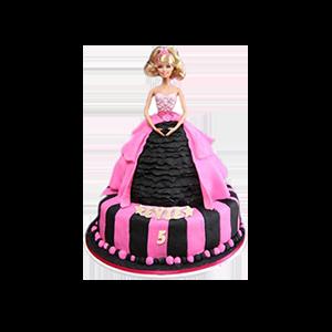 蛋糕/【翻糖蛋糕】世界是你: 芭比娃娃翻糖蛋糕(需提前预订)  [包 装]