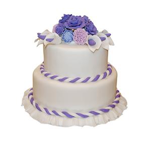 蛋糕/【翻糖蛋糕】凝眸深处: 翻糖蛋糕(需提前预定。双层蛋糕,上下两层的尺寸