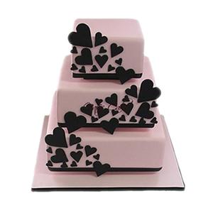 蛋糕/【翻糖蛋糕】慕时: 翻糖蛋糕(需提前预定。三层翻糖蛋糕,上下两层的