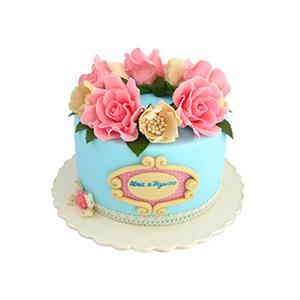蛋糕/【翻糖蛋糕】共闻花香: 翻糖蛋糕(需提前预定)  [包 装]:购买蛋