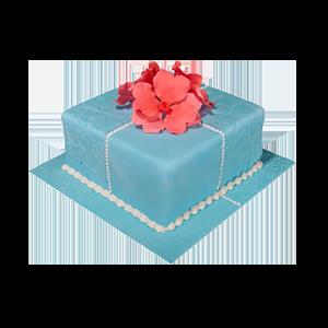 蛋糕/【翻糖蛋糕】爱不是偶然: 翻糖蛋糕(需提前预定)  [包 装]:购买蛋