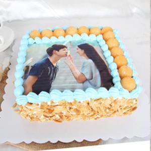 蛋糕/浪漫定制: 数码蛋糕,新鲜奶油搭配时令水果,食用糯米纸打印