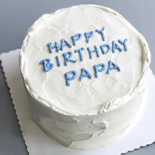 蛋糕/爱无多言:优质淡奶油搭配水果夹心 祝 愿:父爱永远是无言却又