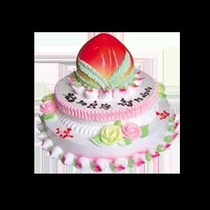 蛋糕/寿比松龄:超大寿桃,面子十足,新鲜奶油,甜而不腻 祝 愿:寿