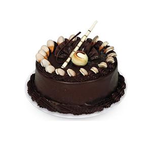 蛋糕/佳期如梦: 圆形巧克力蛋糕  [包 装]:购买蛋糕附送贺