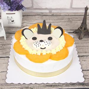 蛋糕/狮子座专属蛋糕:巧克力装饰搭配鲜奶蛋糕,小狮子造型 祝 愿:像狮子