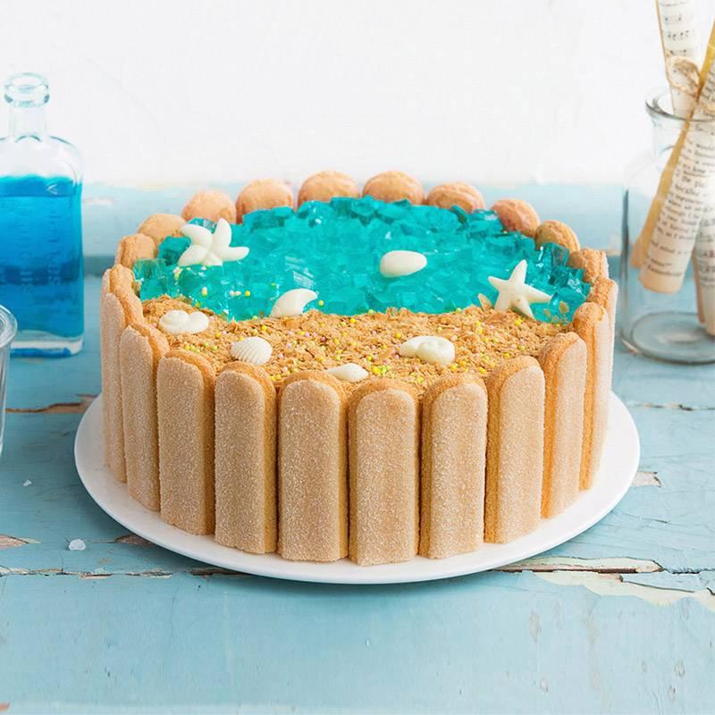蛋糕/幸福沙滩:鲜奶、鸡蛋、手指饼干的创意配合 祝 愿:陪你去看海