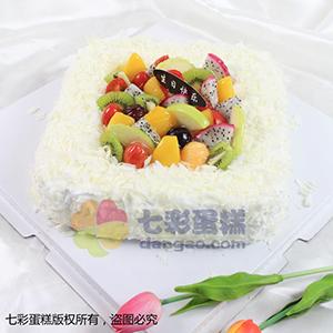 蛋糕/心的祝愿:鲜奶鸡蛋胚+新鲜时令水果 祝 愿:你我情谊,珍藏在