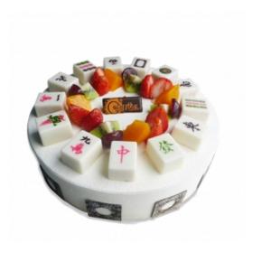 """蛋糕/""""麻""""到成功: 圆形欧式水果蛋糕,巧克力麻将、各色时令水果艺术"""