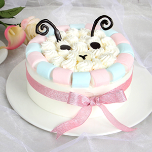蛋糕/白羊座专属蛋糕:甜蜜棉花糖围边+鲜美奶油原料 祝 愿:肆意洒脱,开