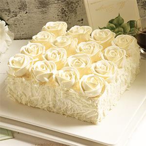 蛋糕/爱之誓言: 玫瑰花慕斯  [包 装]:高档礼盒包装,赠送