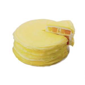 蛋糕/芒果甜心千层蛋糕: 圆形芒果千层蛋糕,芒果果肉、超薄鸡蛋皮、新鲜奶