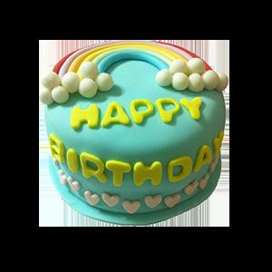 蛋糕/【翻糖蛋糕】恋上霓虹:鲜奶鸡蛋胚+时尚翻糖 祝 愿:茫茫人海相逢是缘分,