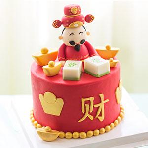 蛋糕/新年翻糖系列: 翻糖蛋糕  [包 装]:高档礼盒包装,赠送精