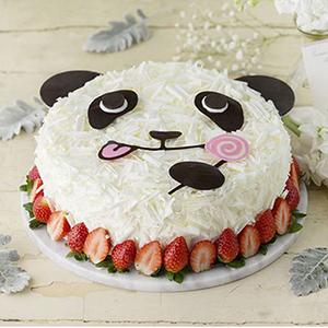 蛋糕/熊猫贝贝:时令水果、鸡蛋、优质淡奶油、巧克力 祝 愿:你是我
