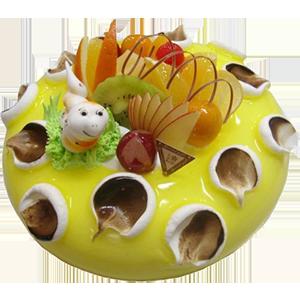 蛋糕/春之舞:新鲜水果+创意图案 祝 愿:盼望着,春来了 保