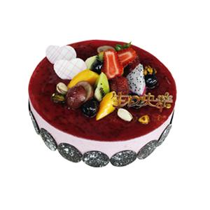 蛋糕/洛丽塔: 蓝莓慕斯,时令水果搭配  [包 装]:高档礼