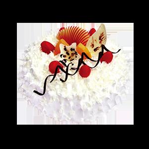 蛋糕/冰山火焰: 圆形冰淇凌蛋糕,时令水果装饰(请提前2-3天以
