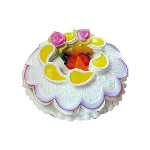 蛋糕/漫步云端: 圆形冰淇凌蛋糕,时令水果装饰(请提前2-3天以