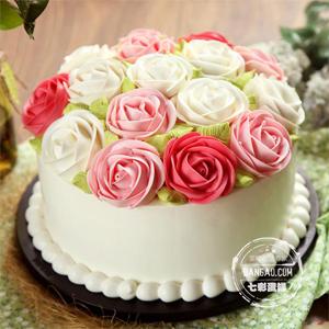 蛋糕/心花怒放: 圆形奶油蛋糕,原味戚风胚  [包 装]:购买