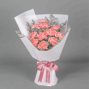 鲜花/恩情难忘:11枝粉色康乃馨 花 语:难忘您的教导与陪伴,祝身
