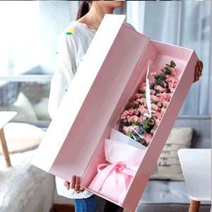 鲜花/温柔母爱:10支大头粉色康乃馨,加8支小头粉色康乃馨,加高级配