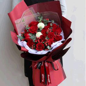 鲜花/爱你的心永恒:19枝红玫瑰 花 语:爱你的心 从内到外 都是炽热