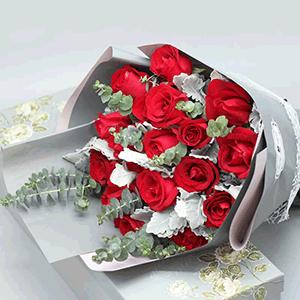 鲜花/典雅爱人:19枝红玫瑰 花 语:如此爱你,不离不弃