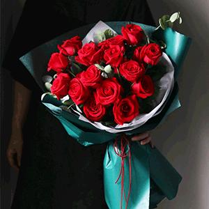 鲜花/盛夏玫瑰:21枝红玫瑰 花 语:我爱你的热情如同盛夏