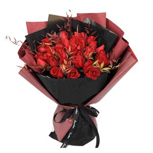 鲜花/Sweety House:33多精品红玫瑰 花 语:天涯明月心,朝暮最相思
