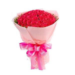 鲜花/爱情亚里莎:101枝红玫瑰 包 装:粉色皱纹纸圆形精美包装,粉