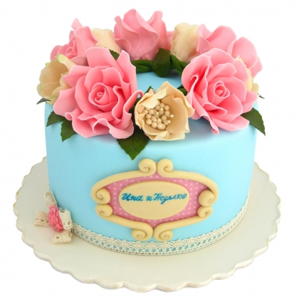 【翻糖蛋糕】共闻花香