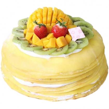 芒果之恋千层蛋糕